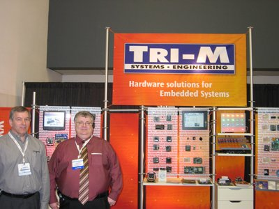 Tri-M booth at the Embedded Systems Conference